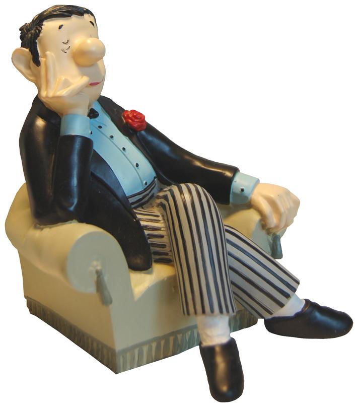 Loriot Buchstütze »Herr im Sessel«
