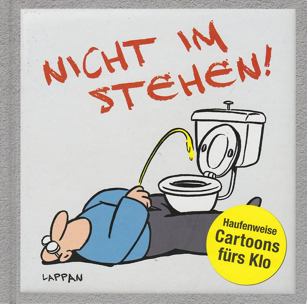 Nicht im Stehen! Haufenweise Cartoons fürs Klo