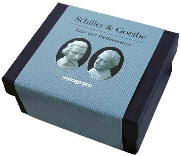 Goethe und Schiller Porzellan Sazl und Pfefferstreuer